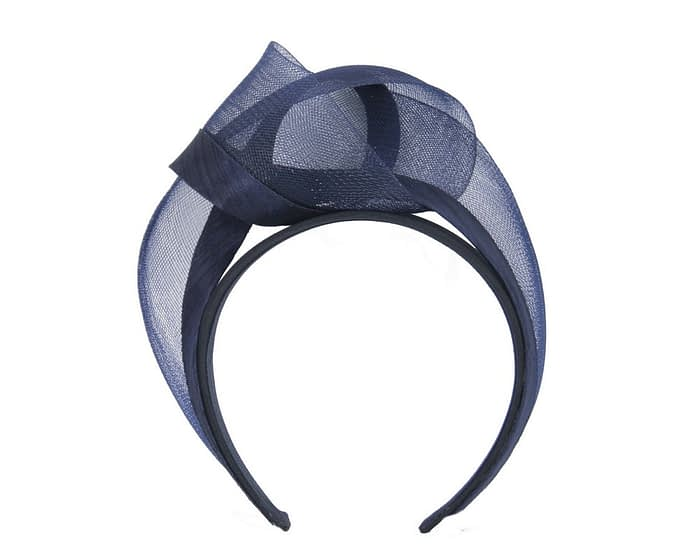 Navy turban headband by Fillies Collection Fascinators.com.au