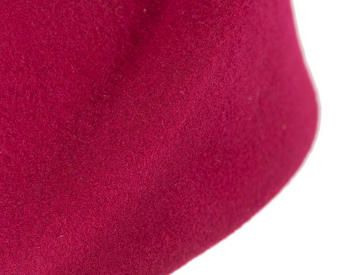 Unique Fuchsia felt hat by Max Alexander Fascinators.com.au