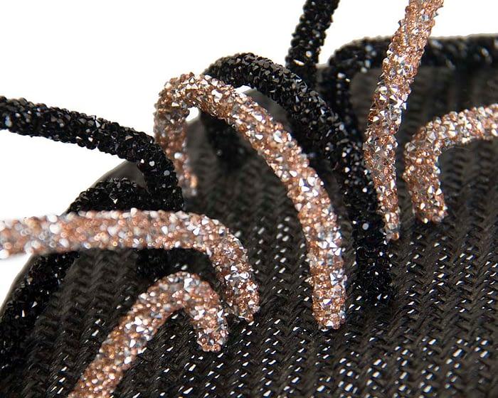 Bespoke black & nude pillbox fascinator Fascinators.com.au