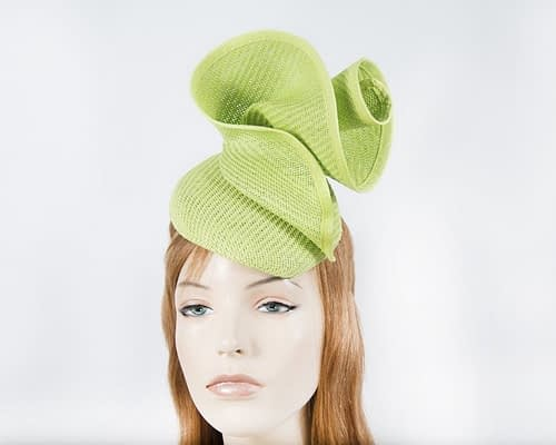 Lime sculptured pillbox Fascinators.com.au