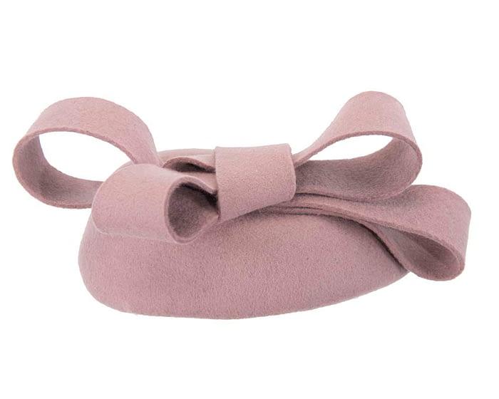Dusty pink pillbox with bow Fascinators.com.au