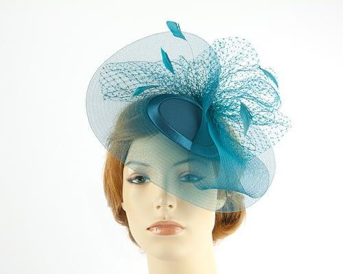Teal mother of the bride hat Fascinators.com.au
