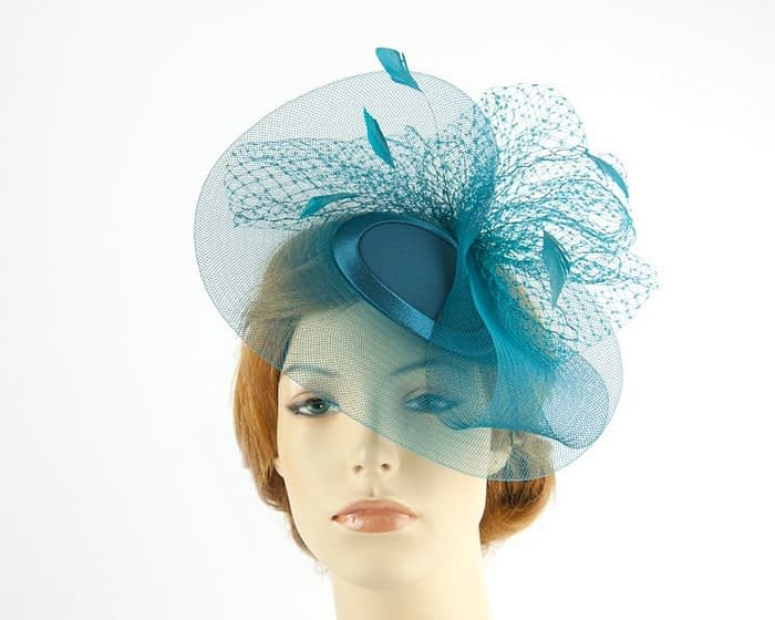 Teal mother of the bride hat Fascinators.com.au