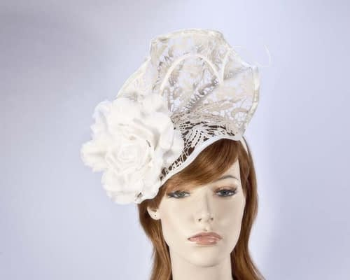 Cream lace fascinator S115C Fascinators.com.au