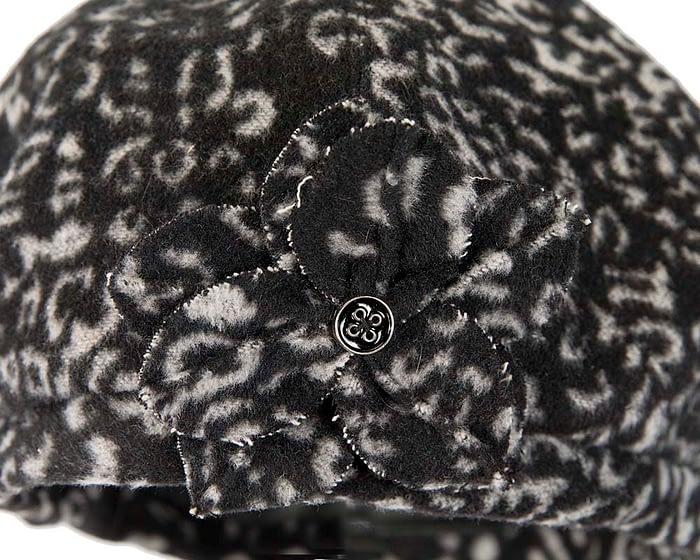 Black white beret J253BW Fascinators.com.au
