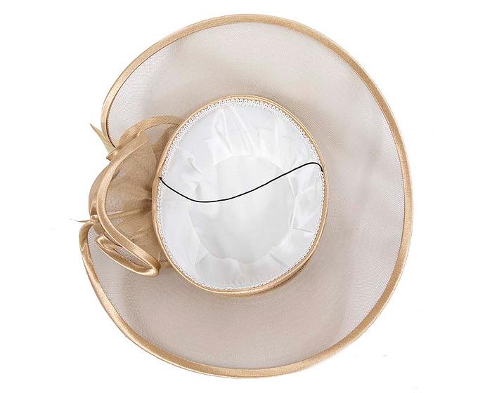 Gold fashion hat custom made to order Fascinators.com.au