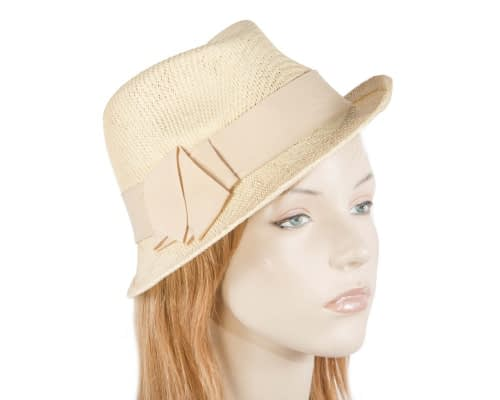 Natural ladies trilby hat Fascinators.com.au