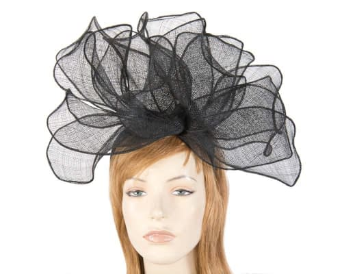 Large black racing fascinator MA630B Fascinators.com.au