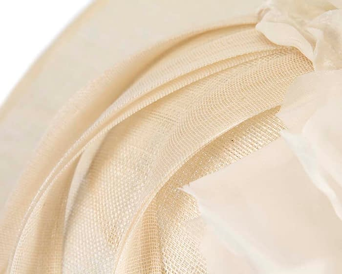 Large cream racing hatinator by Fillies Collection Fascinators.com.au