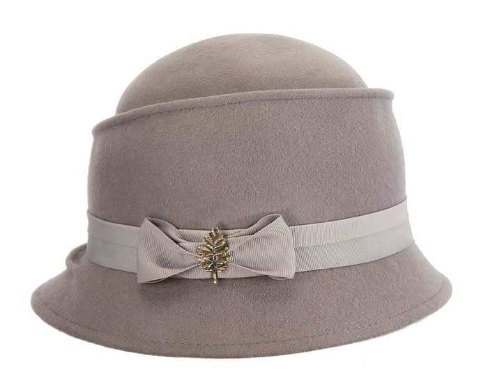 Grey ladies felt hat Max Alexander J286G Fascinators.com.au