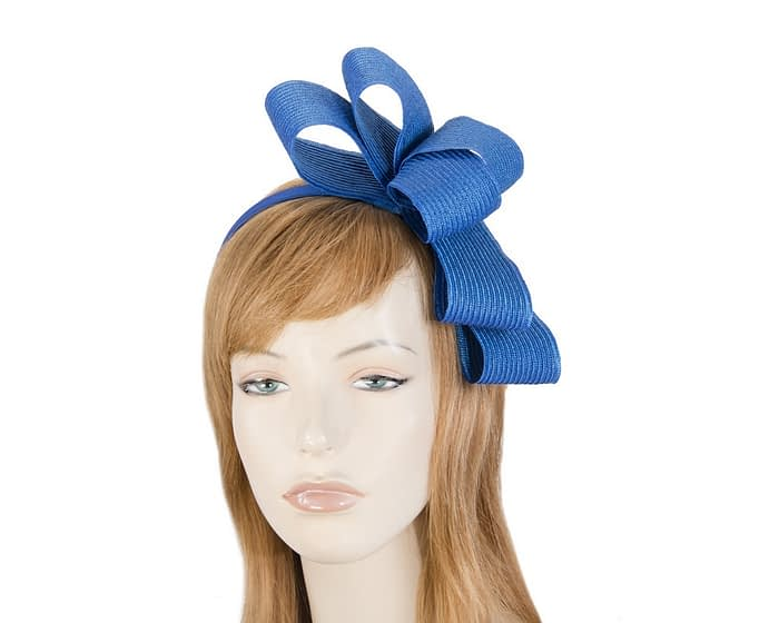 Royal blue bow fascinator by Max Alexander Fascinators.com.au