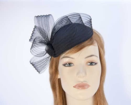Black fascinator pillbox for special occasion K5013B Fascinators.com.au