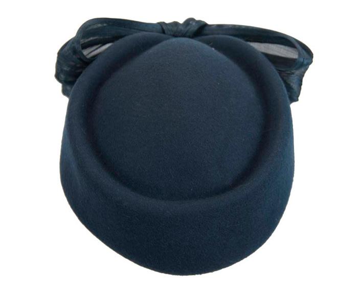 Navy Jackie Onassis felt beret by Fillies Collection Fascinators.com.au