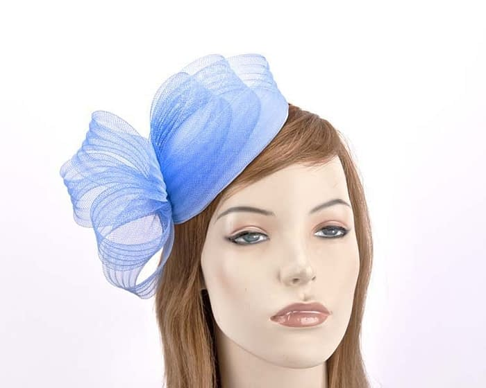 Blue fascinator pillbox for special occasion Fascinators.com.au