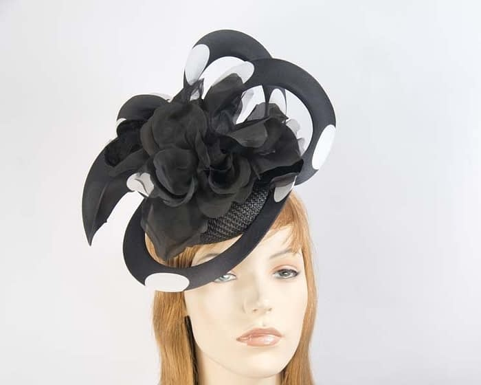 Black & white Fillies Collection racing fascinator Fascinators.com.au