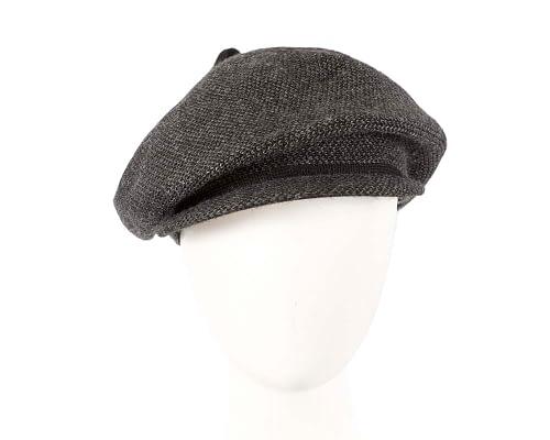 Classic warm charcoal wool beaked cap. Made in Europe Fascinators.com.au