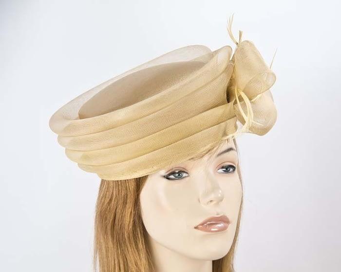 Gold fashion hats H892G Fascinators.com.au