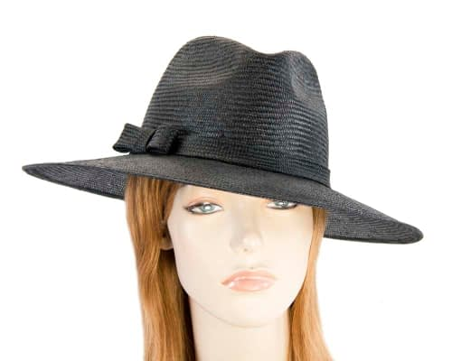 Black wide brim ladies hat Fascinators.com.au