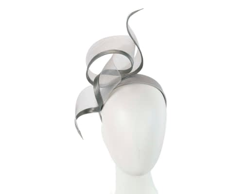 Bespoke silver racing fascinator by Fillies Collection Fascinators.com.au