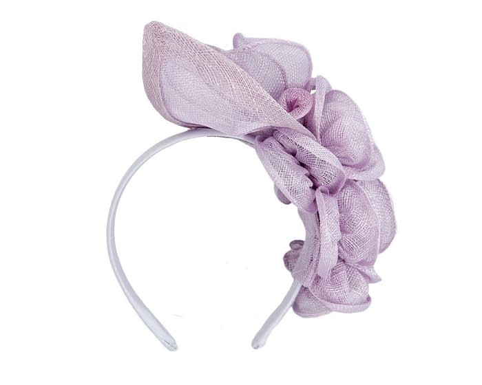 Lilac sinamay flower headband fascinator by Max Alexander Fascinators.com.au