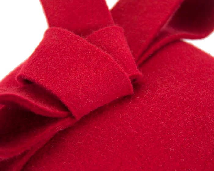 Red pillbox with bow Fascinators.com.au