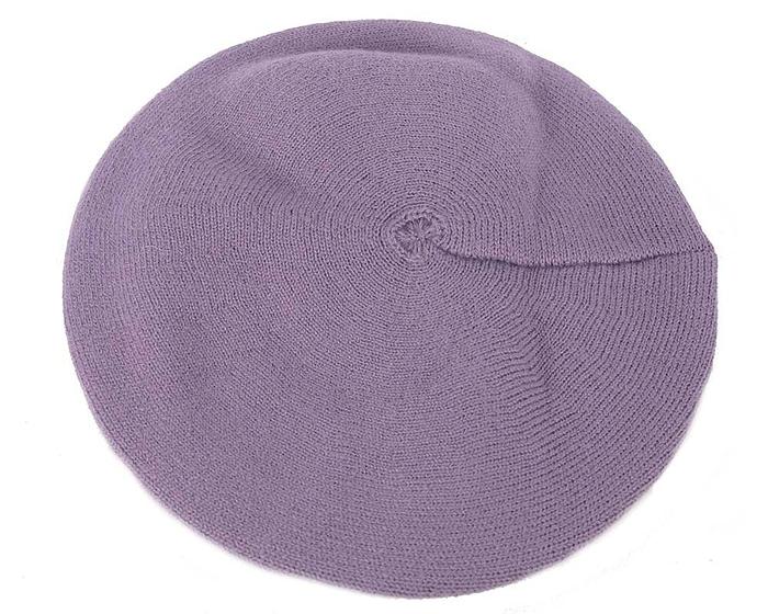Classic warm purple wool beret. Made in Europe Fascinators.com.au