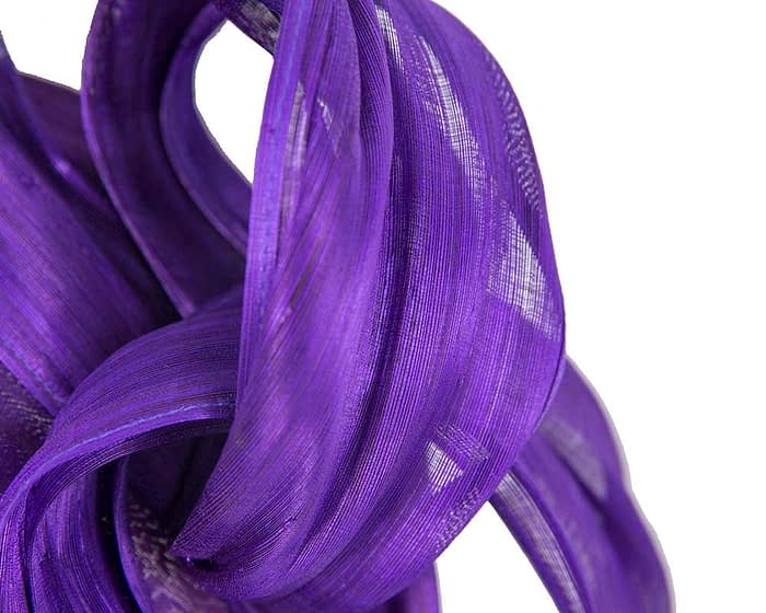 Purple retro headband racing fascinator by Fillies Collection Fascinators.com.au