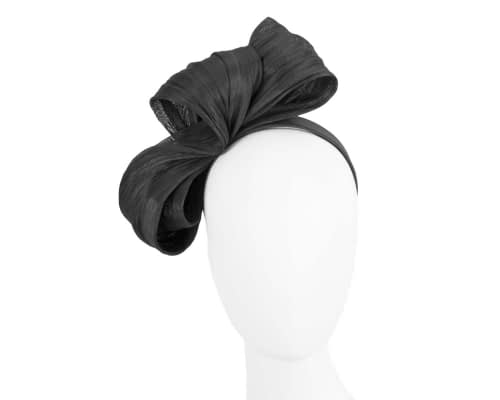 Large black bow racing fascinator by Fillies Collection Fascinators.com.au