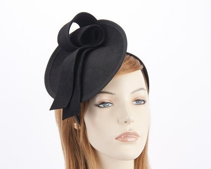 Black felt fascinator from Max Alexander J305B Fascinators.com.au