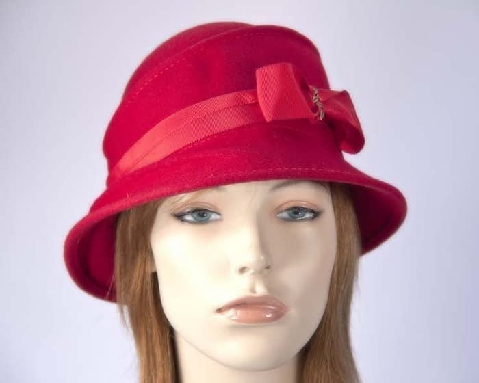 Red ladies felt hat Max Alexander J286R Fascinators.com.au