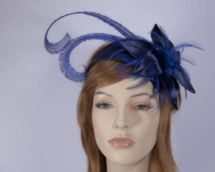 Navy blue fascinator K4799NB Fascinators.com.au