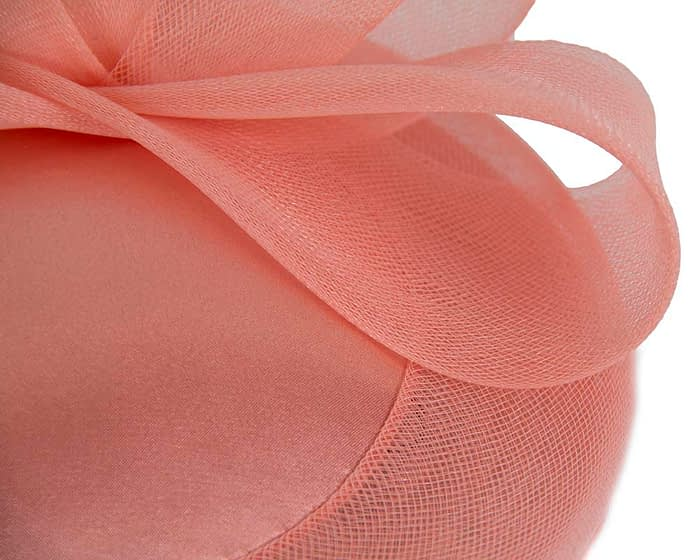 Coral custom made cocktail hats Fascinators.com.au