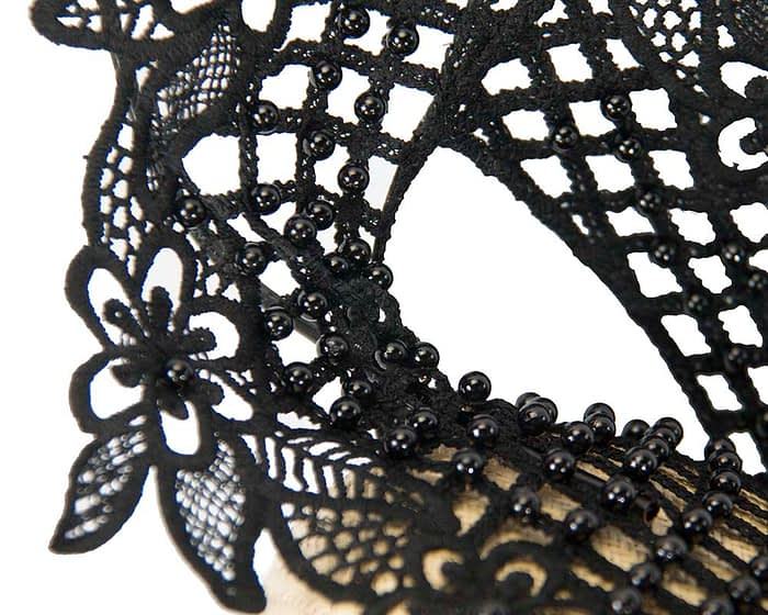 Natural & black lace pillbox fascinator by Fillies Collection Fascinators.com.au