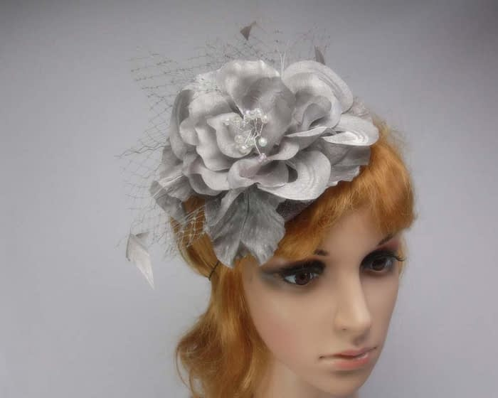 Grey fascinators K4810G Fascinators.com.au