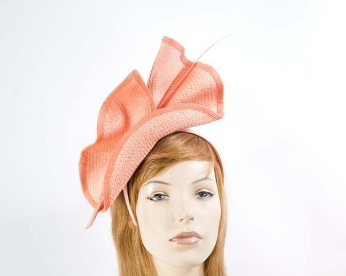 Coral fascinator by Max Alexander Fascinators.com.au
