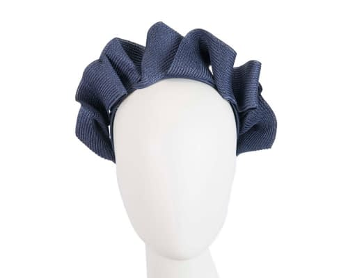 Navy PU braid crown fascinator by Max Alexander Fascinators.com.au