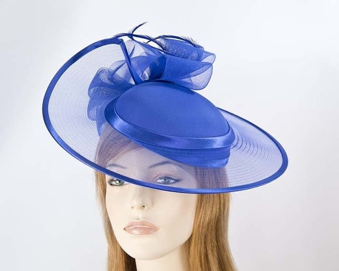 Cobalt blue fashion hat H835CB Fascinators.com.au H835 blue