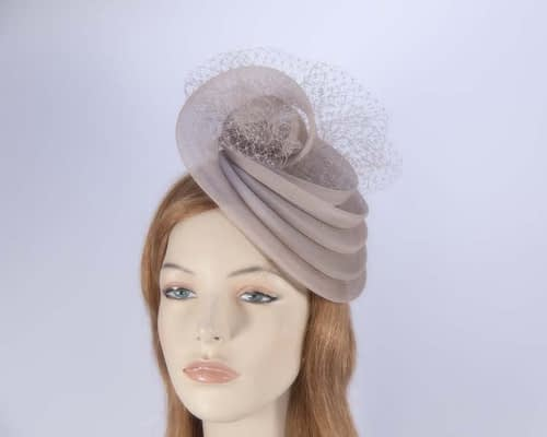 Taupe cocktail hat K4797T Fascinators.com.au