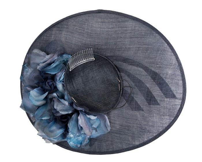Large navy racing hatinator by Fillies Collection Fascinators.com.au