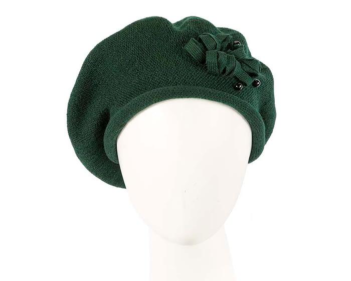 Classic warm green wool beret. Made in Europe Fascinators.com.au