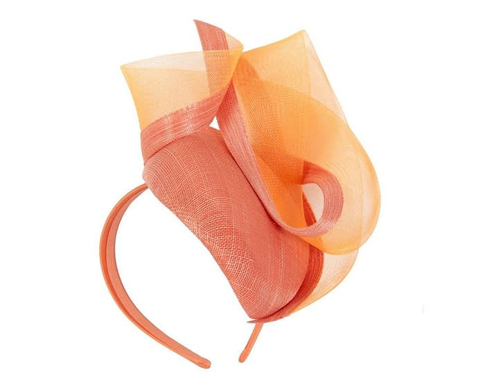 Stunning orange racing fascinator Fascinators.com.au