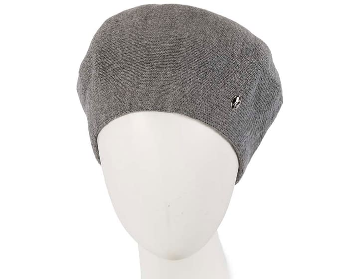 Classic warm grey wool beret. Made in Europe Fascinators.com.au