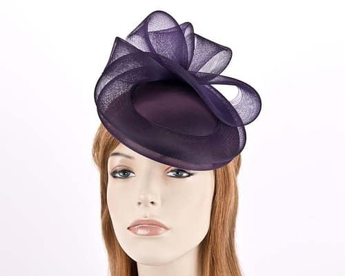 Aubergine cocktail hats K4691AU Fascinators.com.au