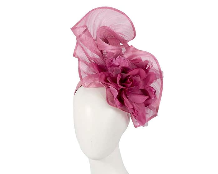 Bespoke dusty pink flower fascinator Fascinators.com.au