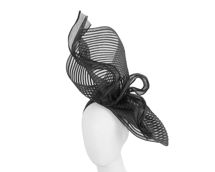 Tall twirl black racing fascinator by Fillies Collection Fascinators.com.au