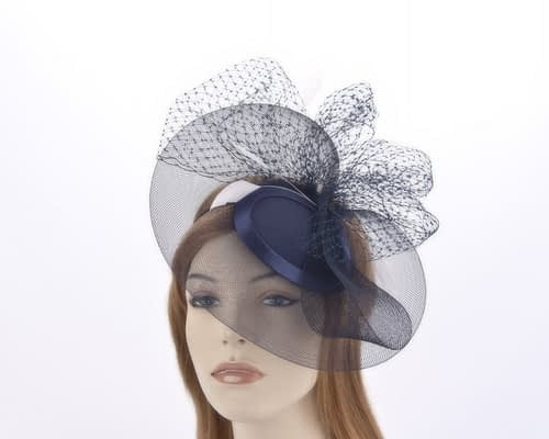 Navy & Cream mother of the bride hat Fascinators.com.au