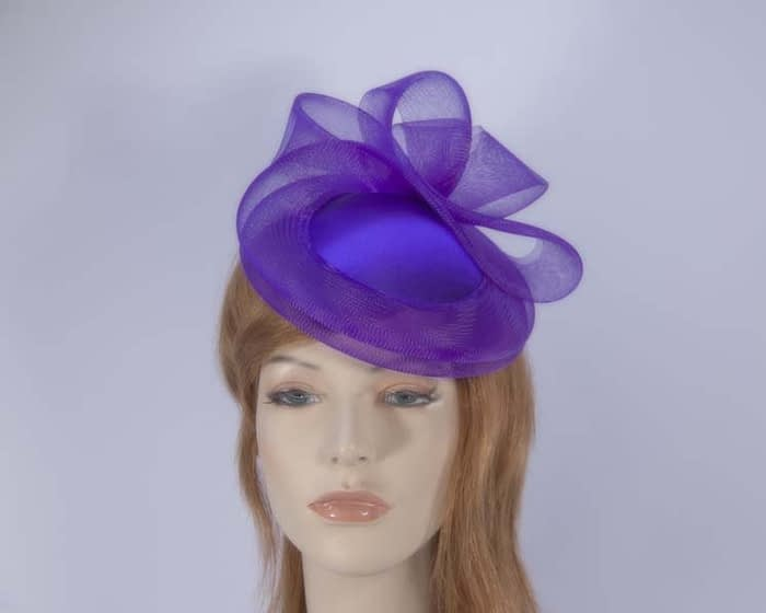 Purple cocktail hat K4691PU Fascinators.com.au