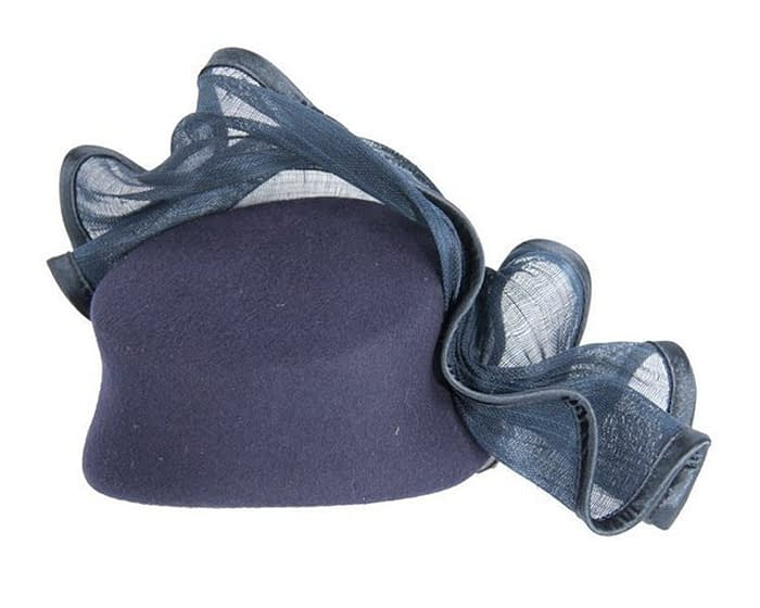 Tall navy felt fascinator Fascinators.com.au