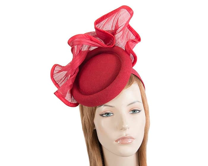 Tall red winter fascinator by Fillies Collection Fascinators.com.au