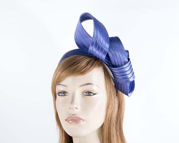 Twisted blue fascinator Fascinators.com.au